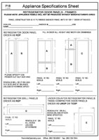 Appliance Specifications Form #3