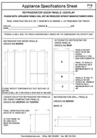 Appliance Specifications Form #4