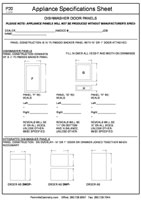 Appliance Specifications Form #5